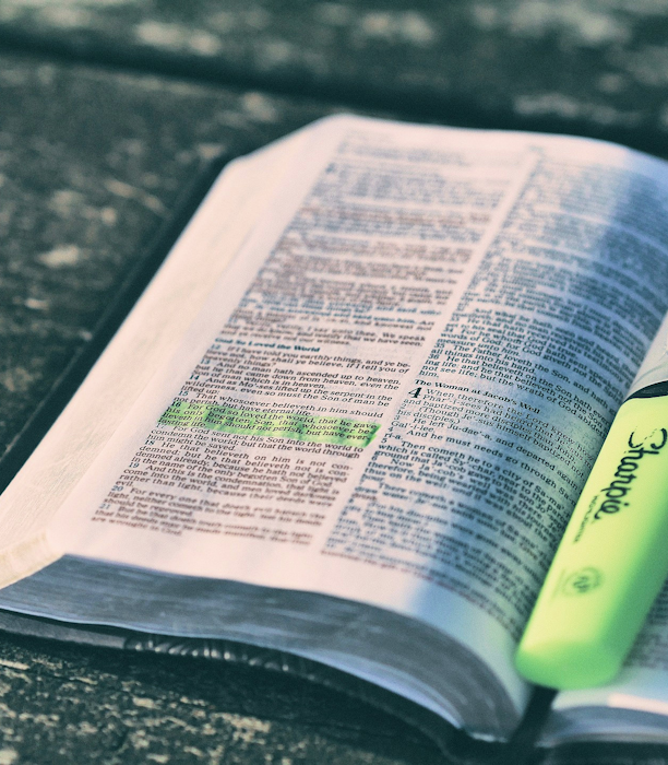 Open Bible with HIghlighter Pen