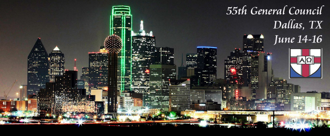 Dallas Skyline advertising 55th General Council June 14-16, 2017